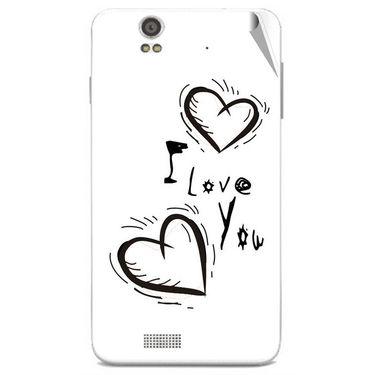 Snooky 48835 Digital Print Mobile Skin Sticker For Lava Iris X5 - White