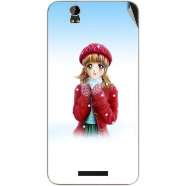 Snooky 48874 Digital Print Mobile Skin Sticker For Lava Iris X1 Grand - White