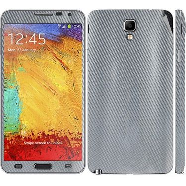 Snooky 18234 Mobile Skin Sticker For Samsung Galaxy Note 3 Neo - Silver