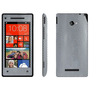 Snooky 18305 Mobile Skin Sticker For Htc 8X - Silver