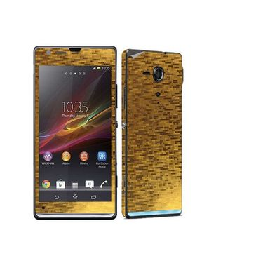 Snooky 18323 Mobile Skin Sticker For Sony Xperia Sp M35h C5302 - Gold