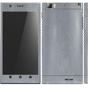 Snooky 18720 Mobile Skin Sticker For Lenovo K900 - Silver