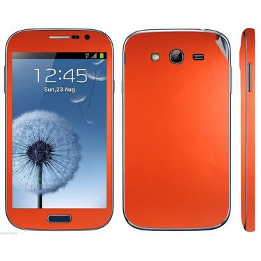 Snooky 20530 Mobile Skin Sticker For Samsung Galaxy Grand Duos 9082 - Orange
