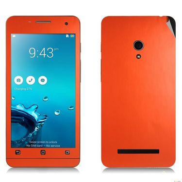 Snooky 20534 Mobile Skin Sticker For Asus Zenfone 5 - Orange