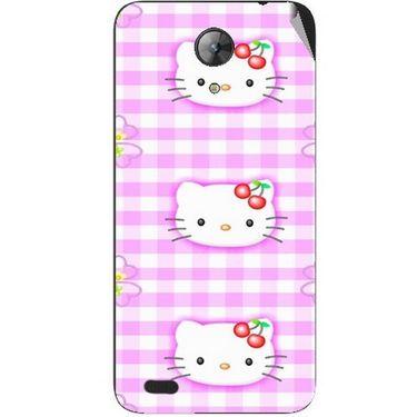 Snooky 42404 Digital Print Mobile Skin Sticker For Intex Aqua Style Mini - Pink
