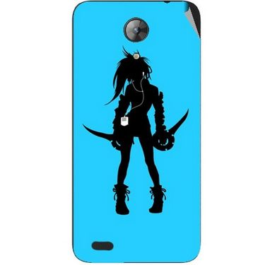 Snooky 42405 Digital Print Mobile Skin Sticker For Intex Aqua Style Mini - Blue