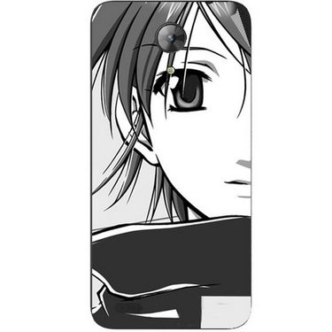 Snooky 42406 Digital Print Mobile Skin Sticker For Intex Aqua Style Mini - Grey