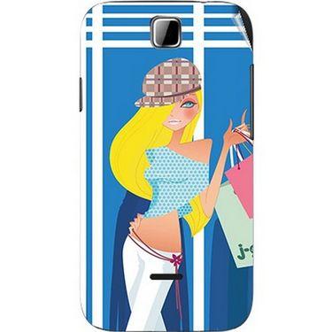 Snooky 42410 Digital Print Mobile Skin Sticker For Micromax Ninja 3.5 A54 - Blue