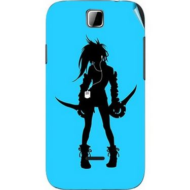Snooky 42416 Digital Print Mobile Skin Sticker For Micromax Ninja 3.5 A54 - Blue