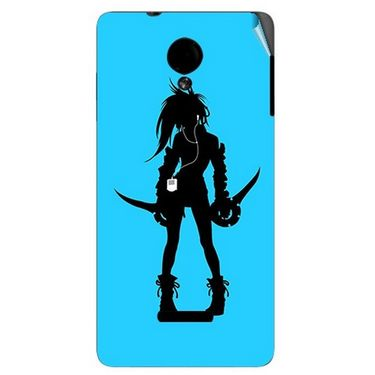 Snooky 42427 Digital Print Mobile Skin Sticker For Micromax Canvas Fun A74 - Blue