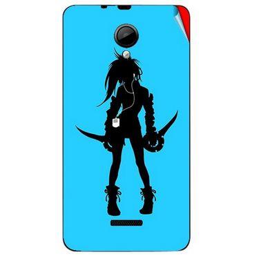 Snooky 42438 Digital Print Mobile Skin Sticker For Micromax Canvas Fun A76 - Blue