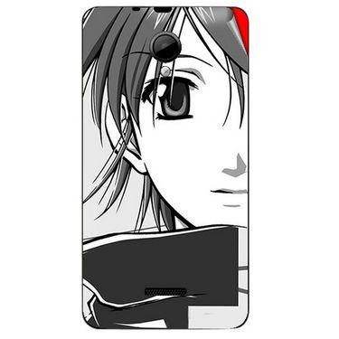 Snooky 42439 Digital Print Mobile Skin Sticker For Micromax Canvas Fun A76 - Grey