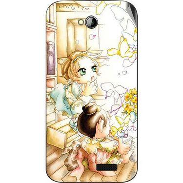 Snooky 42445 Digital Print Mobile Skin Sticker For Micromax Bolt A089 - White