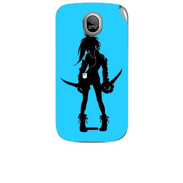 Snooky 42460 Digital Print Mobile Skin Sticker For Micromax Ninja A89 - Blue