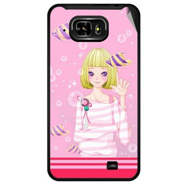 Snooky 42466 Digital Print Mobile Skin Sticker For Micromax Superfone Pixel A90 - Pink