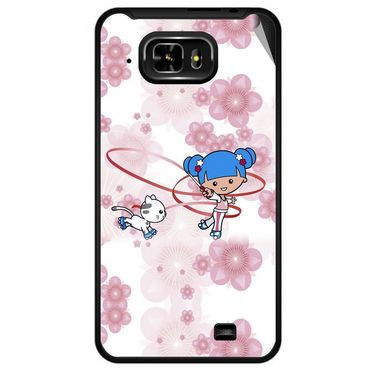 Snooky 42474 Digital Print Mobile Skin Sticker For Micromax Superfone Pixel A90 - White