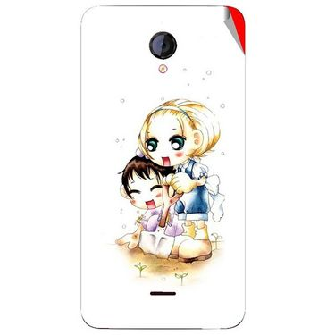Snooky 42607 Digital Print Mobile Skin Sticker For Micromax Unite 2 A106 - White
