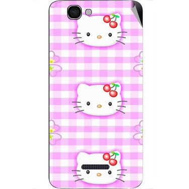 Snooky 42668 Digital Print Mobile Skin Sticker For Micromax Canvas 2 Colours A120 - Pink