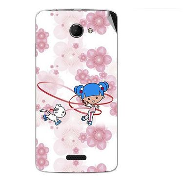 Snooky 42683 Digital Print Mobile Skin Sticker For Micromax Canvas Elanza 2 A121 - White