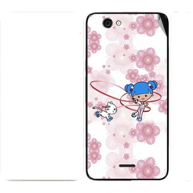 Snooky 42738 Digital Print Mobile Skin Sticker For Micromax Canvas knight cameo A290 - White