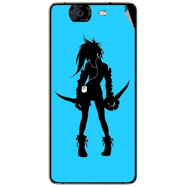 Snooky 42779 Digital Print Mobile Skin Sticker For Micromax Canvas Knight A350 - Blue