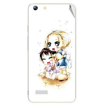 Snooky 42794 Digital Print Mobile Skin Sticker For Micromax Canvas Hue AQ5000 - White
