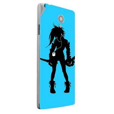 Snooky 42856 Digital Print Mobile Skin Sticker For XOLO A500 Club - Blue