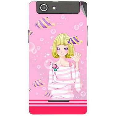 Snooky 42862 Digital Print Mobile Skin Sticker For XOLO A500s - Pink