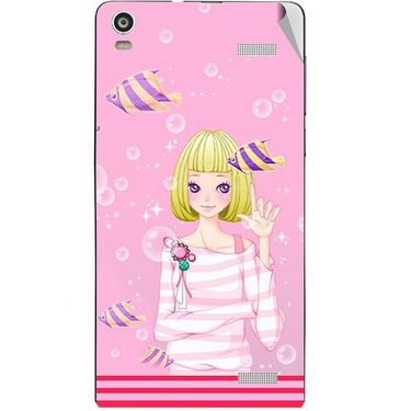 Snooky 42917 Digital Print Mobile Skin Sticker For XOLO A1000S - Pink