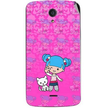 Snooky 42957 Digital Print Mobile Skin Sticker For Xolo Omega 5.5 - Pink