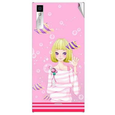 Snooky 42994 Digital Print Mobile Skin Sticker For Xolo Q600S - Pink