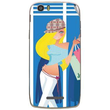 Snooky 43015 Digital Print Mobile Skin Sticker For Xolo Q700s - Blue