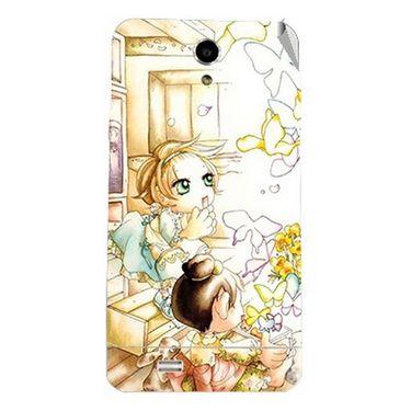 Snooky 43039 Digital Print Mobile Skin Sticker For Xolo Q900 - White
