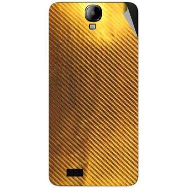 Snooky 43173 Mobile Skin Sticker For Intex Aqua Amaze - Golden