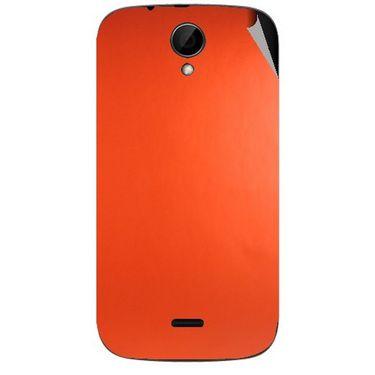 Snooky 43238 Mobile Skin Sticker For Intex Aqua i3 - Orange