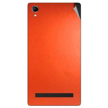 Snooky 43394 Mobile Skin Sticker For Intex Aqua Power Plus - Orange