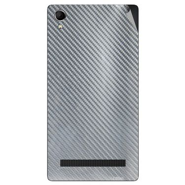 Snooky 43398 Mobile Skin Sticker For Intex Aqua Power Plus - silver