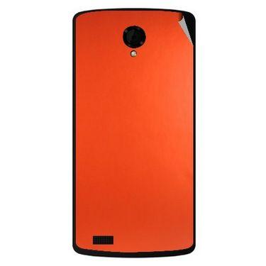 Snooky 43478 Mobile Skin Sticker For Intex Aqua Star Power - Orange