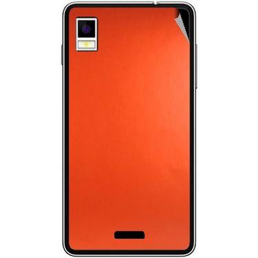 Snooky 43490 Mobile Skin Sticker For Intex Aqua Style - Orange