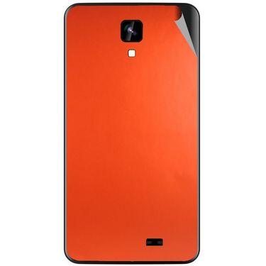 Snooky 43562 Mobile Skin Sticker For Intex Aqua Y2 Ips - Orange