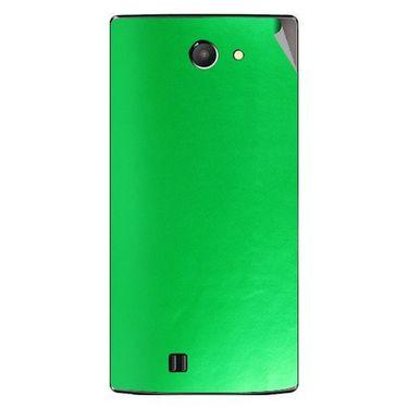 Snooky 43756 Mobile Skin Sticker For Lava Iris 456 - Green