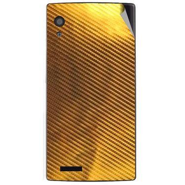 Snooky 43797 Mobile Skin Sticker For Lava Iris Fuel 60 - Golden