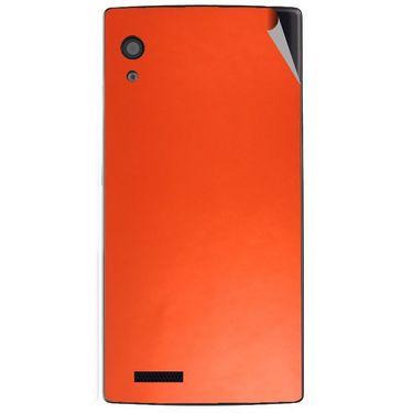 Snooky 43802 Mobile Skin Sticker For Lava Iris Fuel 60 - Orange