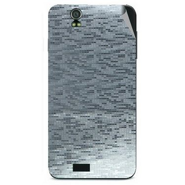 Snooky 43817 Mobile Skin Sticker For Lava Iris selfie 50 - silver