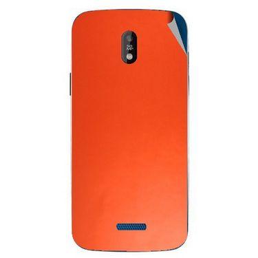 Snooky 43838 Mobile Skin Sticker For Lava Iris 450 - Orange