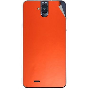 Snooky 43850 Mobile Skin Sticker For Lava Iris 550Q - Orange