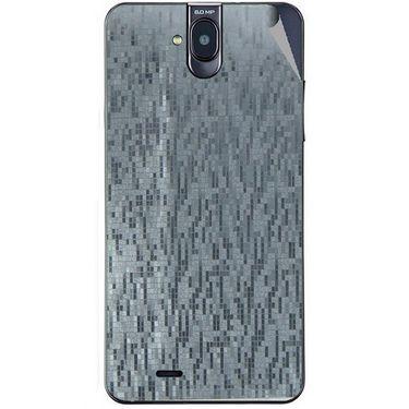 Snooky 43853 Mobile Skin Sticker For Lava Iris 550Q - silver