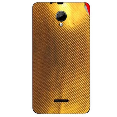 Snooky 43953 Mobile Skin Sticker For Micromax Canvas Fun A76 - Golden