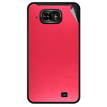 Snooky 43990 Mobile Skin Sticker For Micromax Superfone Pixel A90 - Red