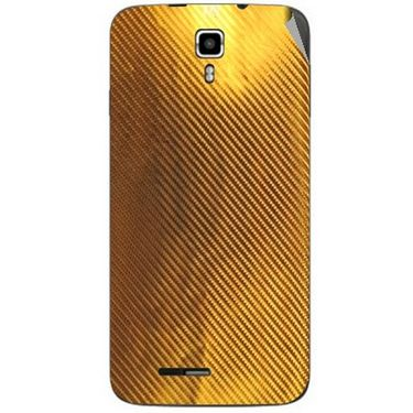 Snooky 44229 Mobile Skin Sticker For Micromax Canvas Juice A177 - Golden
